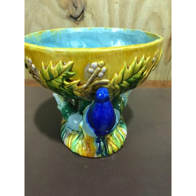 "Majolica George Jones Style ""Punch"" Bowls - A Pair For Sale In Atlanta - Image 6 of 10"