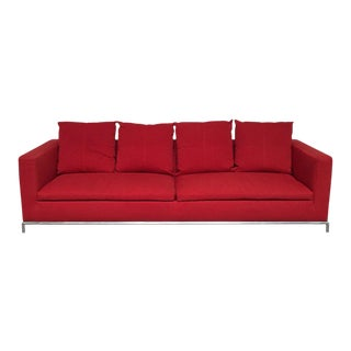 Modern Red George Sofa For Sale