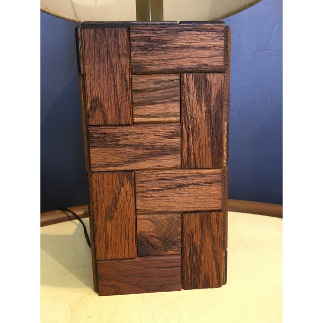 Mid-Century Modern Mid-Century Hand Crafted Wood Table Lamp For Sale - Image 3 of 10