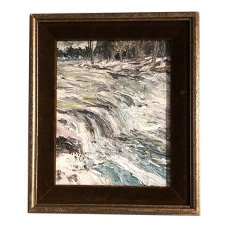 "Original Contemporary Impressionist Landscape ""After Schofield"" by Judy Henn Vintage Frame For Sale"