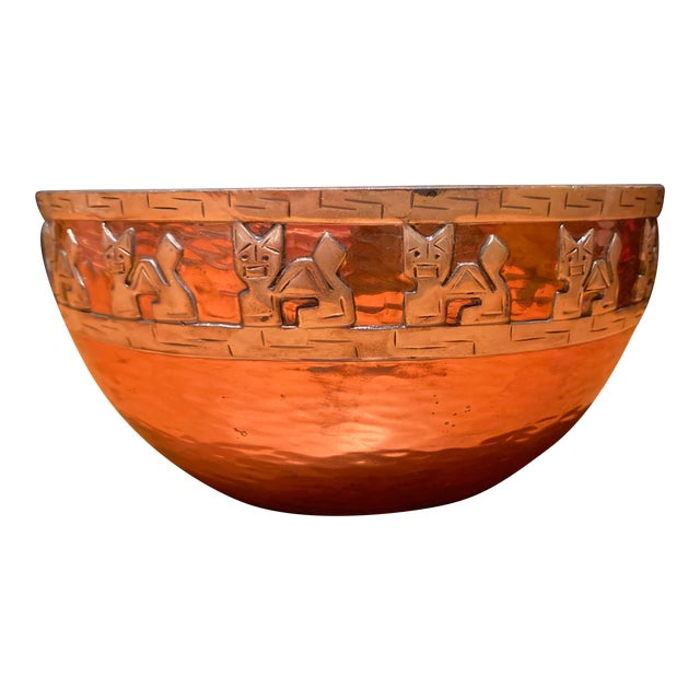 Vicky Industria Copper & Sterling Bowl For Sale
