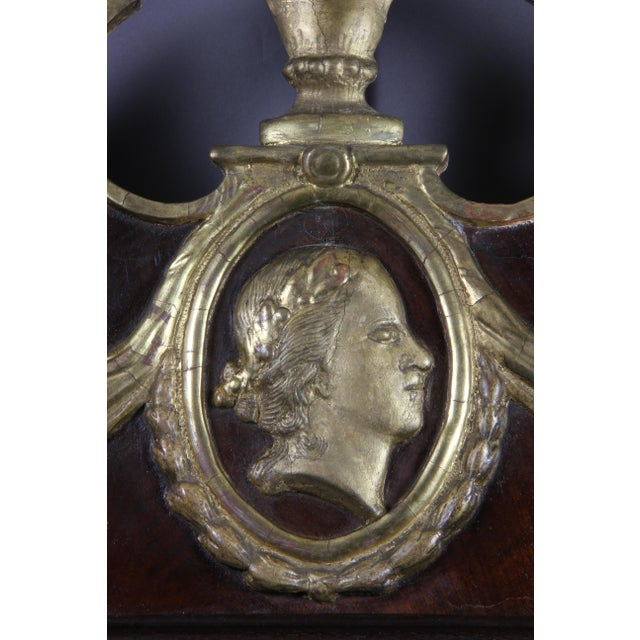 Neoclassical Danish Neoclassical Mahogany and Parcel Gilt Mirror For Sale - Image 3 of 7