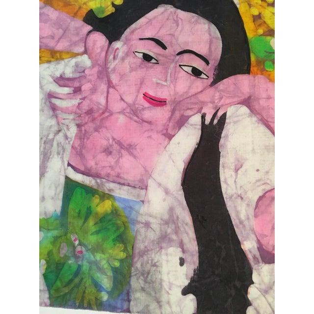 Boho Chic Trudi Fletcher Batik Painting For Sale - Image 3 of 5
