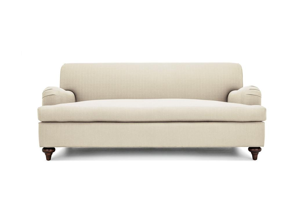 Clad Home Custom Ivory English Roll Arm Sofa   Image 5 Of 5