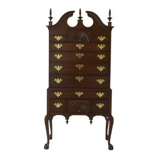Henkel Harris Spnea Ball & Claw Mahogany Highboy For Sale