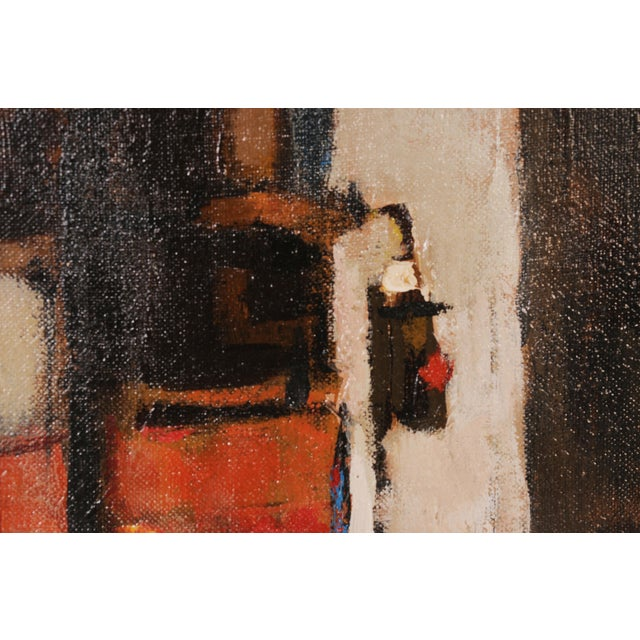 Figurative Mid-Century Framed Streetscape Painting For Sale - Image 3 of 7