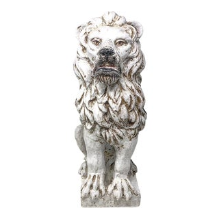 Vintage Italian Stamped Terra-Cotta Lion For Sale