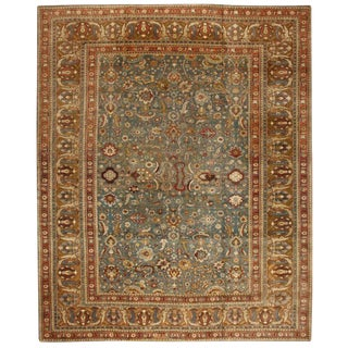 Antique Oversize 19th Century Indian Agra Carpet For Sale