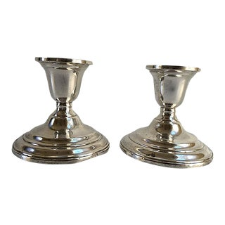 Sterling Silver Candle Holders - A Pair