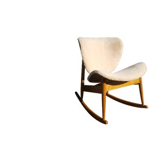 1960s Vintage Mid-Century Modern Plywood Rocking Chair For Sale
