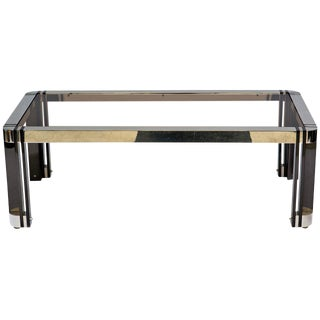 Gunmetal and Nickel Coffee Table in the Style of Karl Springer For Sale