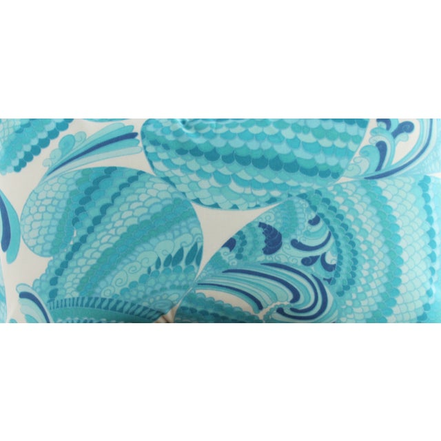 Swirl Print Outdoor Throw Pillow - Image 3 of 3