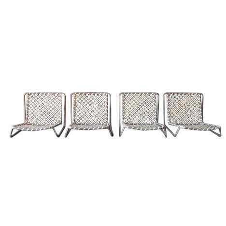Vintage Brown Jordan Sand Chairs - Set of 4 - Image 1 of 5