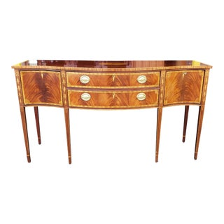 Councill Craftsmen Banded & Inlaid Mahogany Federal Style Dining Room Sideboard C1990s For Sale