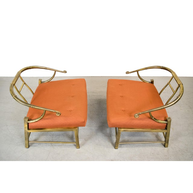 Brass Lounge Chairs by Mastercraft - Pair - Image 4 of 10