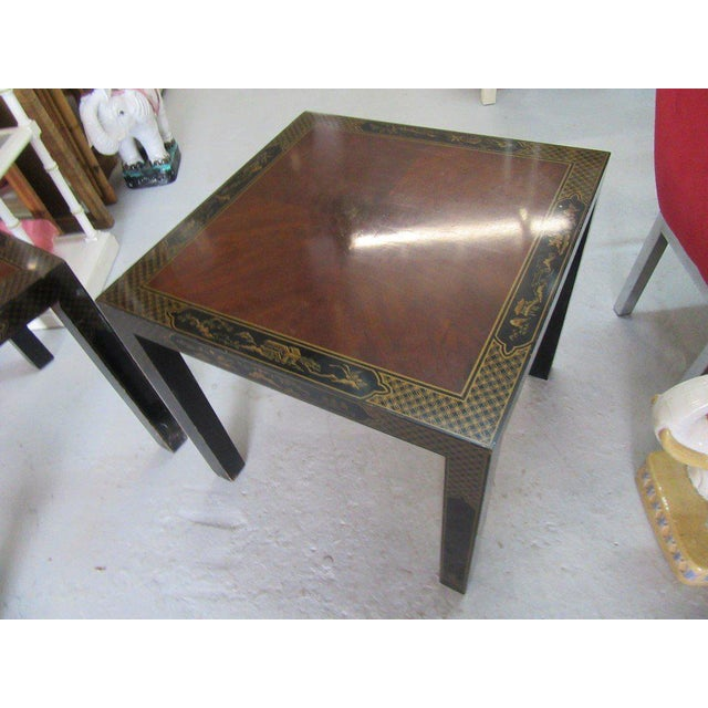 Asian Inspired Drexel Side Tables - a Pair - Image 2 of 9