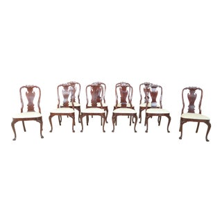 Set of 10 Councill Craftsmen Philadelphia Mahogany Dining Room Chairs For Sale