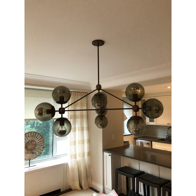 Contemporary Vintage Jason Miller for Roll & Hill Modo Chandelier For Sale - Image 3 of 5