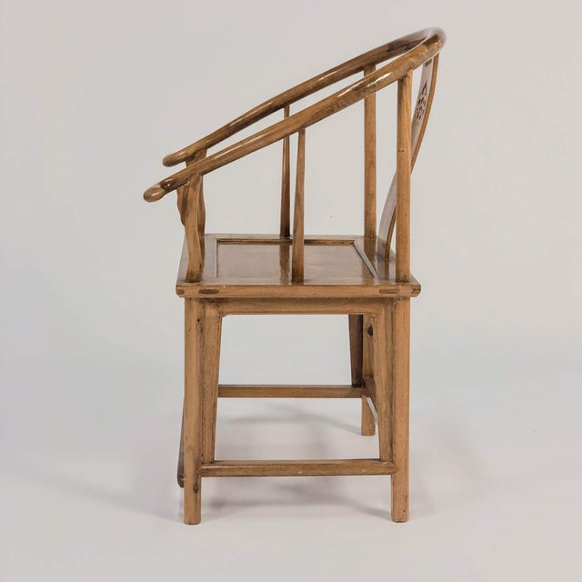 Mid-Century Modern Mid-Century Modern Elm & Mahogany Yoke Back Chairs - a Pair For Sale - Image 3 of 7