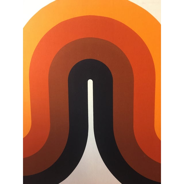 1960s Mid-Century Stretched Canvas Screen-Print by Verner Panton For Sale - Image 5 of 8