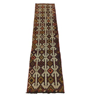 Vintage Turkish Cicim Runner | Retro-Colored Vintage Runner For Sale