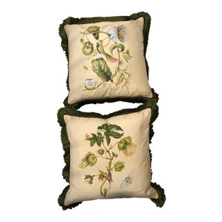 Shantalle Hand Painted Silk Pillow - a Pair
