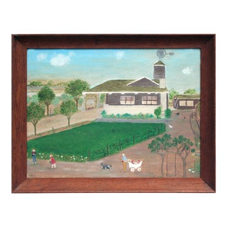 Once Upon a Time Folk Art Painting For Sale