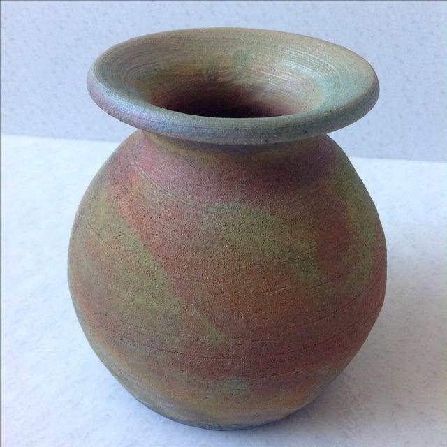Earth Tone Raku Pottery Vase - Image 11 of 11