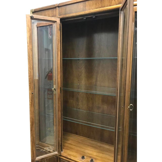 Chestnut Drexel Accolade Campaign China Cabinet For Sale - Image 8 of 12