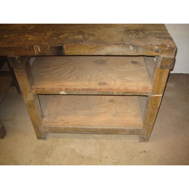 Brown 1900s Industrial Railroad Work Bench For Sale - Image 8 of 13