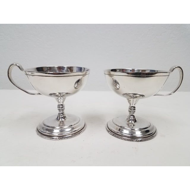 1920s Antique English S Gladwin Silverplate Sorbet Dessert Cups - a Pair For Sale - Image 5 of 5