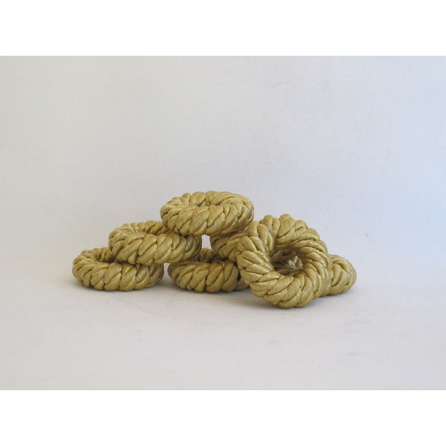 Gold Rope Napkin Holders - Set of 7 - Image 2 of 5