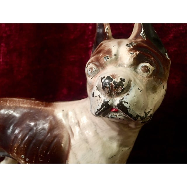 1930s Hubley Boston Terrier Dog Cast Iron Doorstops - a Pair For Sale - Image 11 of 13
