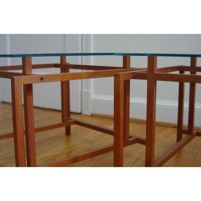 Komfort Danish Henning Nørgaard for Komfort Teak and Glass Side Tables - a Pair For Sale - Image 4 of 7