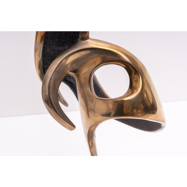 Abstract Bronze Stylized Cranes Sculpture by Robert Bennet For Sale In West Palm - Image 6 of 12