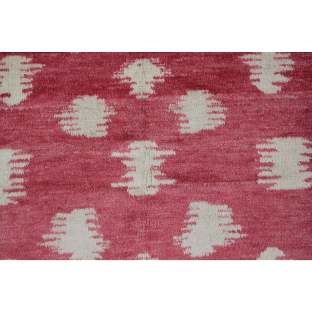 "Art Deco Aara Rugs Inc. Hand Knotted Ikat Rug - 10'0"" X 6'1"" For Sale - Image 3 of 4"