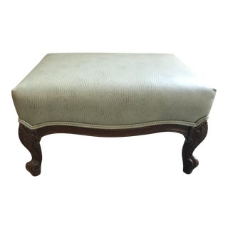 French Newly Upholstered Ottoman For Sale