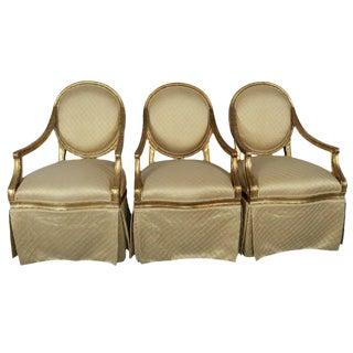 Gilt Wood Armchairs - Set of 3