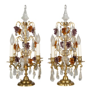 19th Century French Grape Motif Girandoles - a Pair For Sale