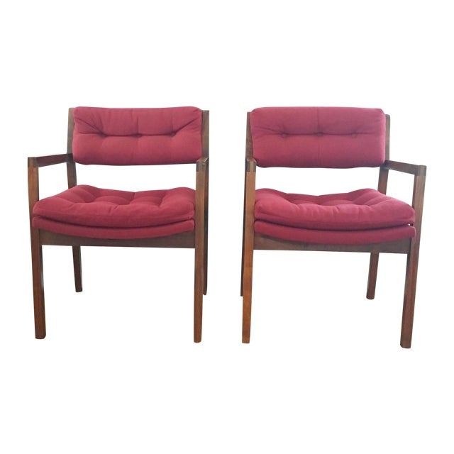 Mid-Century Side / Accent Chairs - Pair - Image 1 of 11