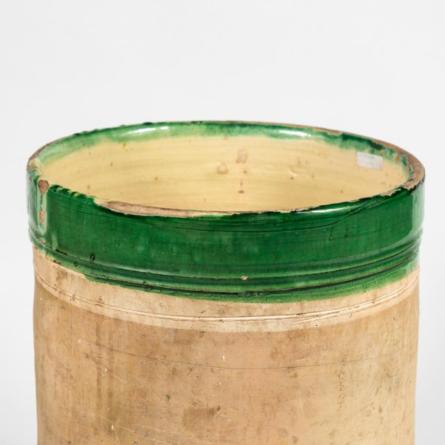 1900 - 1909 Green Banded Pot From Early 20th Century England For Sale - Image 5 of 5