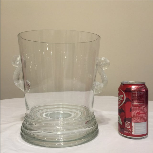Glass Vase Round With Handles - Image 9 of 10