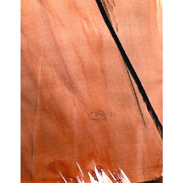 """Contemporary Figure Drawing in Orange and Black, """"Queen Gloria"""" by David O. Smith For Sale - Image 11 of 12"""