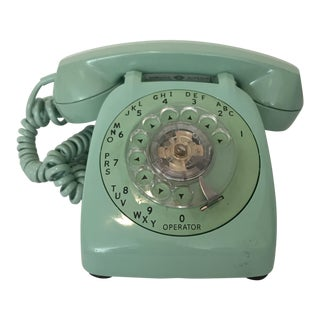 1950s Mid-Century Modern Automatic Electric Mint Colored Ae 80 Rotary Phone