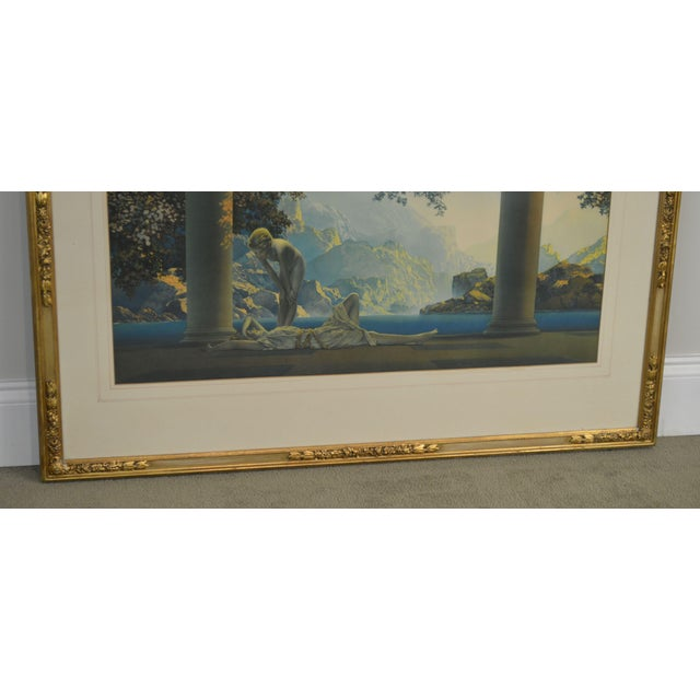 "Maxfield Parrish ""Daybreak Vintage Framed Print or Lithograph For Sale - Image 11 of 13"