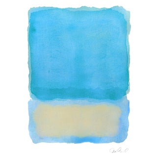 "R, Blue Tones, Giclee Print, 15x20"" .5 Boarder For Sale"