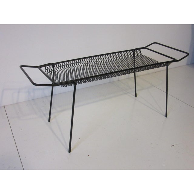 Maurice Ducin Iron Magazine Rack For Sale - Image 4 of 8