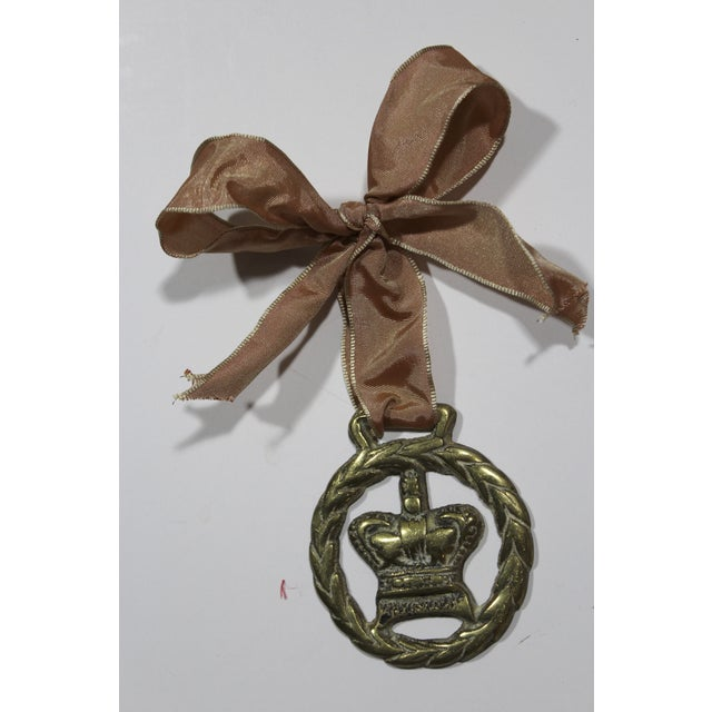 Antique English Horse Brass Crown Ornament - Image 2 of 3