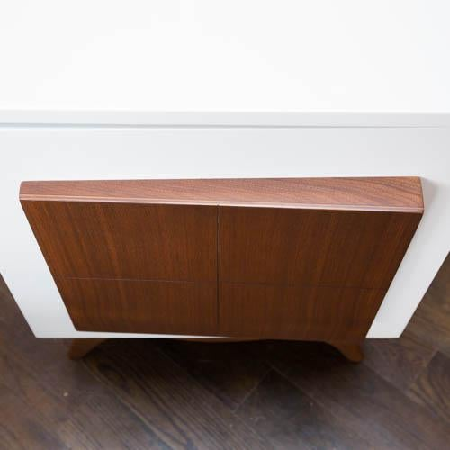 Mid-Century Modern Lacquered Nightstands - a Pair - Image 5 of 8