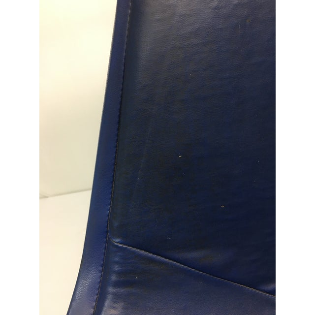 Eiffel Side Chair in Navy Blue Naugahyde by Charles Eames for Herman Miller For Sale - Image 9 of 10